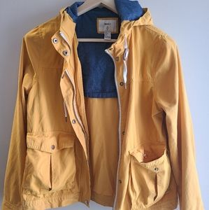 Forever 21 Yellow spring jacket with hood.